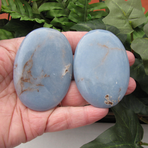 Angelite Palm Stones