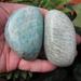 Amazonite Palm Stones, Polished