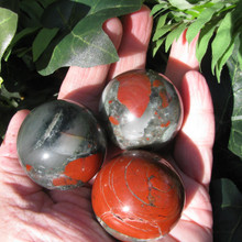 Bloodstone 40mm Spheres, Protection & Grounding