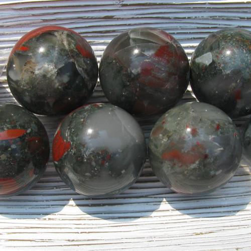 40 mm Bloodstone Spheres