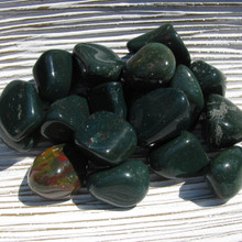 Tumbled Bloodstone crystals