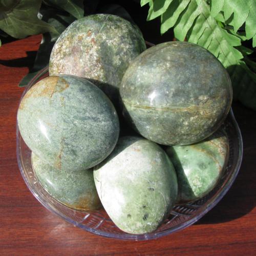 Fuchsite Pebbles, Medium sized