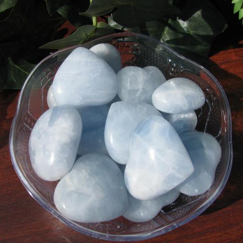 Blue Calcite Hearts