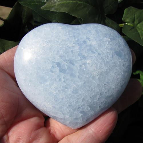 Blue Calcite Heart #5490