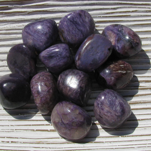 Charoite Tumbled Stones, Grade A