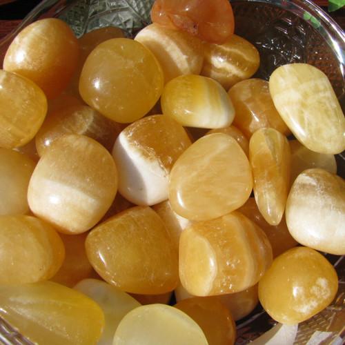 Orange Calcite Tumbled, Medium