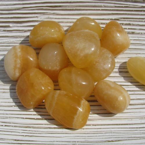 Medium Tumbled Orange Calcite Stones