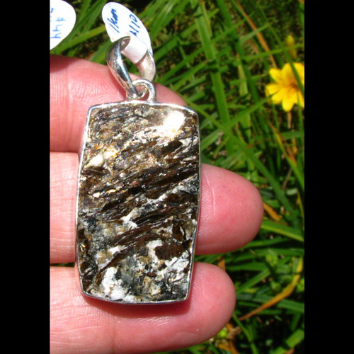 Astrophyllite Pendant mounted in sterling silver.