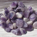 Tumbled Chevron Amethyst Stones