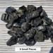 Black Tourmaline Rough, Xsmall peices