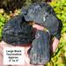 Black Tourmaline Rough, Large Sized