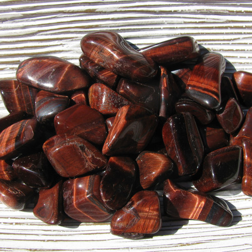 Red Tigers Eye Tumbled Stones
