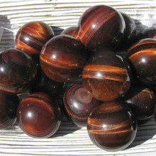 Red Tigers Eye Spheres, 30mm