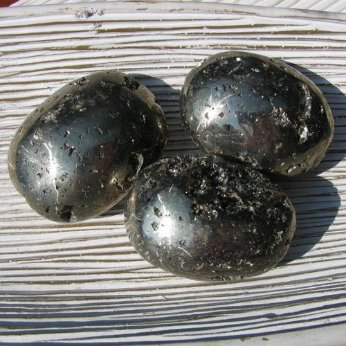 Pyrite Palm Stones, Soap Stones, Fools Gold