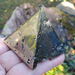 "Golden 2"" Pyrite Pyramid"