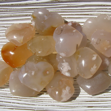 Flower Agate Hearts, small