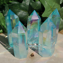 Aqua Aura Polished Points