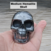 Medium Sized Hematite Skull, front facing