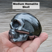 Hematite Skull Medium Sized , left side