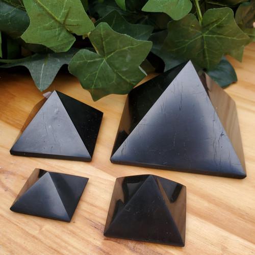 Shungite Pyramids, Various Sizes