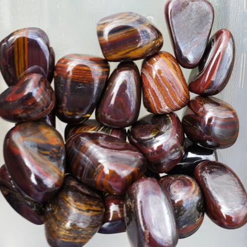 Tumbled Tiger Iron Stones