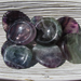 Fluorite Worry stones, Round Stones with an Indentation for your thumb to rub.