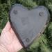 Shungite Angel Wing Heart Shaped Dish, Back Side