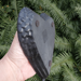 Shungite Angel Wing Heart Shaped Dish, Side View