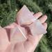 Rose Quartz Angel Aura Pyramids, small and med sized