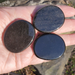 Three Black Obsidian Smooth Stones to show size