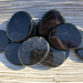 Black Obsidian Smooth Stones, some with sheen
