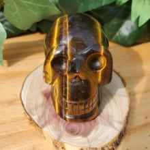 Tiger's Eye Skull