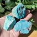 3 pieces Chrysocolla, side 1