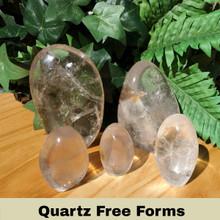 Group of 5 Quartz Freeforms, different sizes