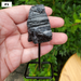 Rough Black Tourmaline Pieces on a Metal Pin Stand, Individual Picture #1