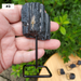 Rough Black Tourmaline Pieces on a Metal Pin Stand, Individual Picture #3