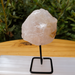 Another example of a Rose Quartz Chunks on a metal stand