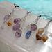 Triple gemstone pendants