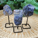 Rough Sodalite on a Metal Stand