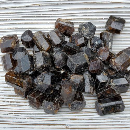 Brown Tourmaline Barrels, Dravite, x-small