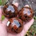 """Mahogany Obsidian Spheres, 2"""""""