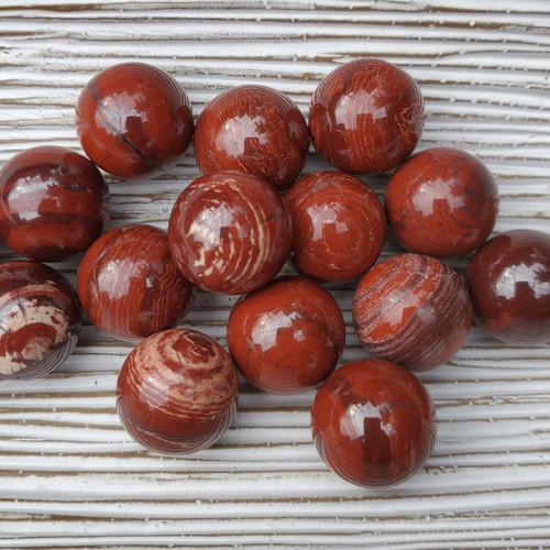 """Snakeskin Spheres, 3/4"""" marble size"""