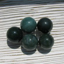 Moss Agate crystal spheres, 20mm