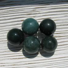 Moss Agate crystal spheres, 20mm