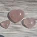 Rose Quartz Polished Hearts, Various Sizes