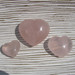Rose Quartz Polished Hearts, Various Sizes