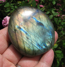 LABRADORITE POLISHED PEBBLE ~ MAGIC ~ TRANSFORMATION ~ STRESS ~ ANXIETY 2098