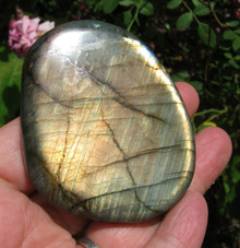 LABRADORITE POLISHED PEBBLE ~ MAGIC ~ TRANSFORMATION ~ STRESS ~ ANXIETY 2097