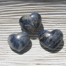 Sodalite puffy 30mm hearts