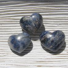 Sodalite puffy 30mm hearts
